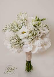 theme wedding bouquets white theme wedding bouquet white hydrangea gypsophila and white