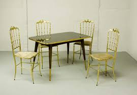 italian dining room furniture midcentury italian dining set of 4 brass chiavari chairs and