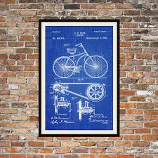 What Size Paper Are Blueprints Printed On Blueprint Art Of Patent Bicycle 1890 Technical Drawings