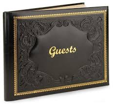 leather photo book black gold embossed italian leather bound guest book 8 5 x 10 5 by