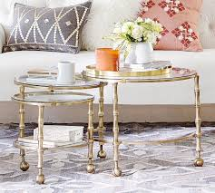 Nesting Coffee Tables Opaline Nesting Coffee Table Pottery Barn
