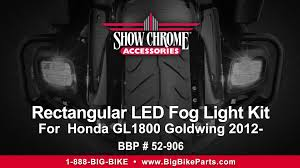 goldwing driving lights reviews rectangular led fog lights for honda gl1800 goldwing 2012 youtube
