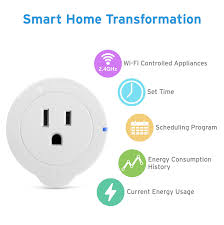 etekcity 4 pack wifi smart plug mini outlet with energy monitoring