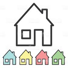 icon house stylized home logo a minimal set of houses stock vector