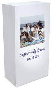 a custom family reunion luminary bag decoration