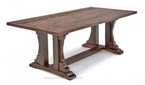 repurposed dining table rustic oak barn wood dining table reclaimed oak table trestle