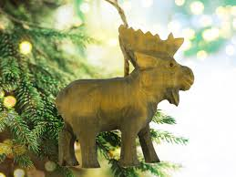3d moose wood ornament american expedition