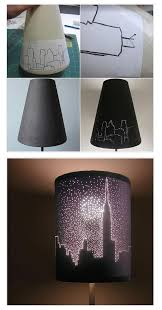 cool diy lamps for teen bedrooms city lights lampshade by
