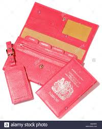 travel document holder images A pink leather travel document set wallet for passport and tickets jpg