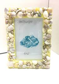Beach Bathroom Decor by Yellow 4 By 6 Seashell Picture Frame Seashells And Pearls Beach