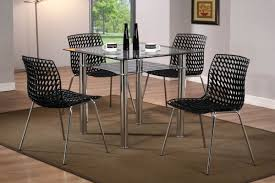 Dining Table 4 Chairs Set Dining Square Glass Dining Table Compact Folding Tables And
