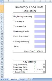 Food Cost Spreadsheet Free by Month End Food Cost Calculator Culinary Thoughts