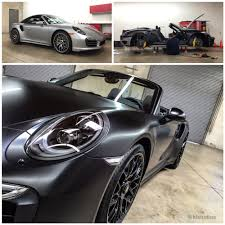 porsche inside porsche 991 turbo s wrapped inside out with 3m satin black vinyl