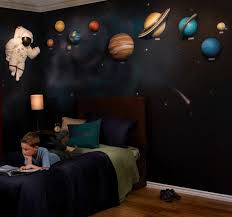 Bedroom Wall Stickers For Toddlers Solar System With Space Astronaut 3d Wall Art Decor By Beetling