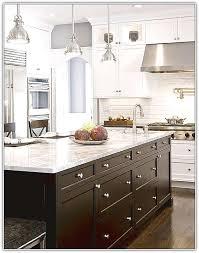 White Kitchen Cabinets White Appliances Dark Kitchen Island With White Cabinets U2013 Quicua Com