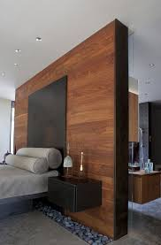 modern wood wall 25 stylish bedrooms with wood clad walls digsdigs