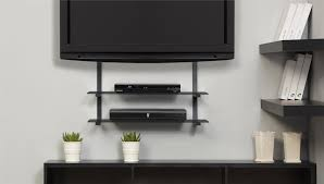 Interior Amazing Tv Wall Mount With Shelf Perfecying Your House