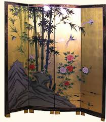 Gold Room Divider Oriental Bamboo Painted Room Dividers With Gold Leaf Available In