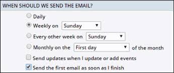 trumba help get started 4 scheduled calendar email