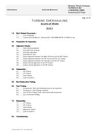 turbine over hauling procedure siemens recommends birkosit