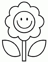 coloring page of a flower pertaining to encourage to color pages