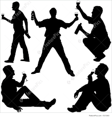 wine silhouette illustration of silhouettes drinking man