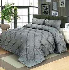 King Size Duvet Sets Uk Luxury Duvet Cover Set Grey Black White Pinch Pleat 2 3pcs Twin