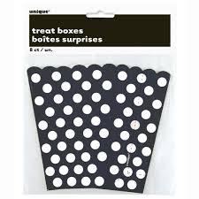 polka dot boxes black polka dots favor boxes 8ct