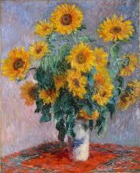 bouquet of sunflowers bouquet of sunflowers claude oscar monet reproduction 1st