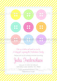 cute as a button baby shower or birthday invite dimple prints shop
