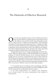 Characteristics Of A Good Resume 3 The Elements Of Effective Research Understanding Interventions