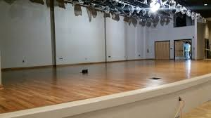 wood floor stages for theater performing arts sports