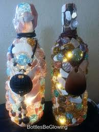 Wine Bottles With Lights Bottle Lights With Glass Gems And Stones By Bottles Be Glowing