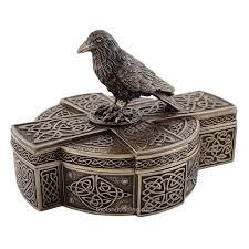 cross home decor celtic raven on celtic cross treasure box gothic home decor crow