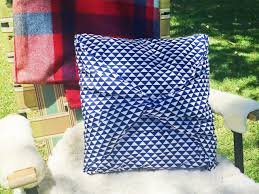Covering A Seat Cushion How To Make A No Sew Pillow Cover Hgtv