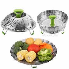 vapeur cuisine panier à vapeur 11 pouces en acier inoxydable pliable alimentaire