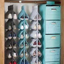 hanging shoe caddy hanging closet shoe storage mini dot pbteen