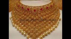 wedding choker necklace images Bridal gold choker necklace designs 2017 jpg