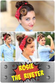 Rosie Riveter Halloween Costume Diy Rosie Riveter Hairstyle Tutorial Hairstyles