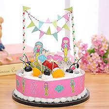 carousel cake topper gift prod 2 pcs mini happy birthday cake bunting