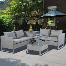 adeco patio furniture set comfort wicker chat set coffee
