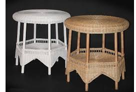 round wicker end table round wicker end table available in four finishes