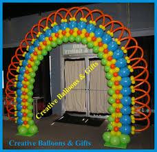 rainbow balloon arch bodacious balloons pinterest rainbow