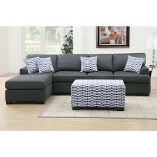 large sectional sofa with ottoman moss large 2 piece blended linen sectional sofa with matching