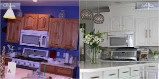 Oak Kitchen Cabinets Painted White Before U0026 After Oak Kitchen Cabinets Painted White With Hickory
