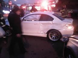 crashed white jeep bmw 1 series m coupes face rough weekend two more crashes