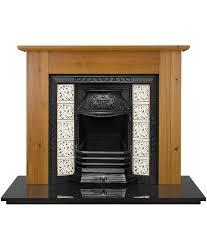 Cast Iron Fireplace Insert by Laurel Tiled Fireplace Insert Pendragon Fireplaces