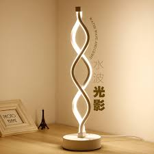 Bedroom Table Lights Creative Design Spiral Modern Table Light Acrylic Table Ls For
