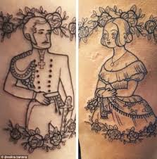 wedding tattoo trend see loved up newlyweds getting inked daily