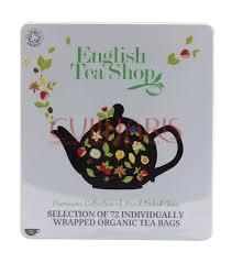 tea shop organic tea selection 72 teabags 132g